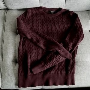 Cableknit cashmere blend sweater